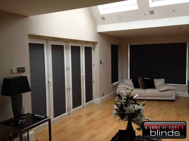 Perfect Fit Pleated blinds on Wide Bi-Fold Doors