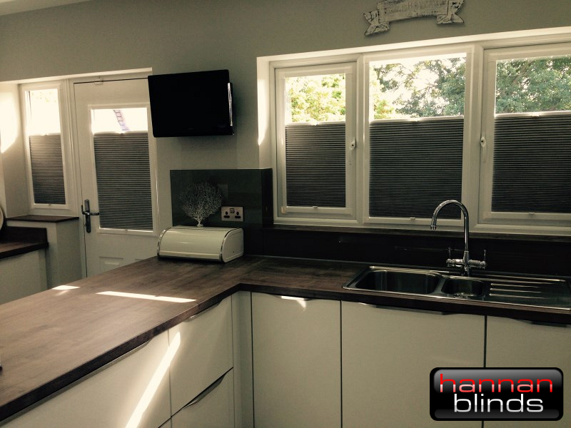 Perfect Fit Cellular Blinds in a Modern Kitchen