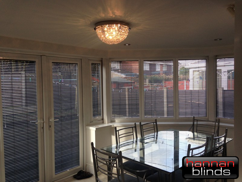 Perfect Fit Venetian Blinds in a Conservatory