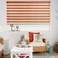 Day and Night Blinds in Sunset Orange
