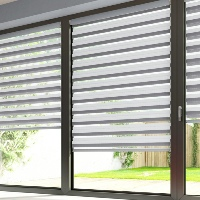 Cool grey Day and Night Blinds look stunning side by side