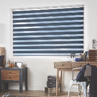 Navy Blue Day & Night Vision Blinds