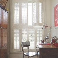 White Tier on Tier Shutters look amazing on tall windows