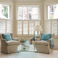 Provide privacy whilst maintaining the amount of natural light entering your room with Cafe style shutters