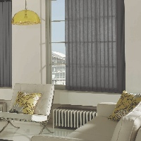 When it comes to vertical blinds, grey is the new beige