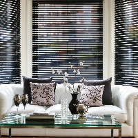 Choose Wooden Blinds for your bay window for a contemporary style