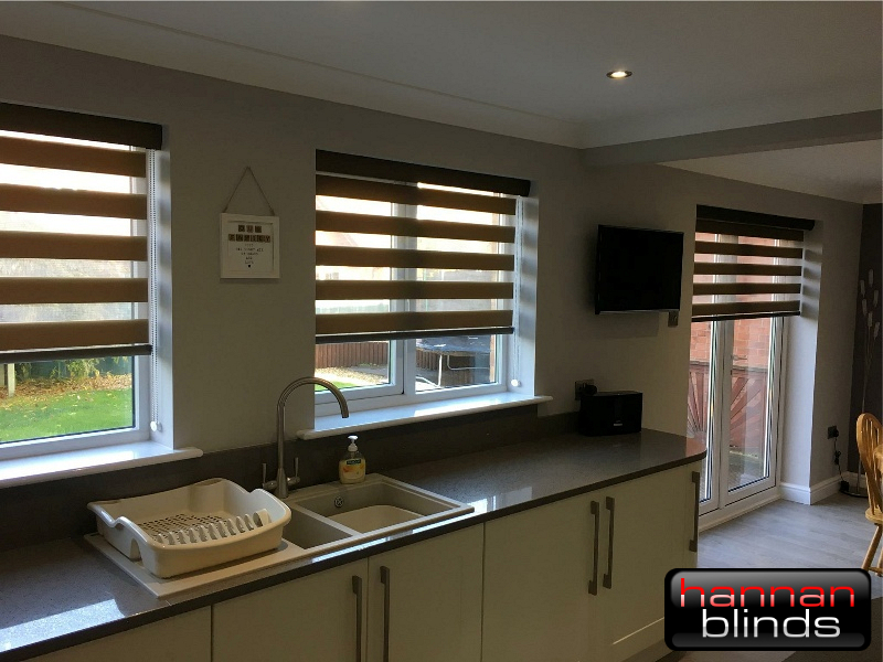 Day & Night Blinds in a Modern Kitchen