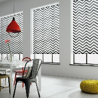 Striking chevrons make for a real statement product