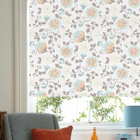 Delicate floral patterns make your window a focal point in your room