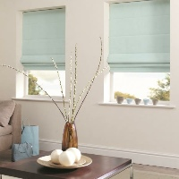 Soft Pastel colours are a massively popular choice with Roman Blinds