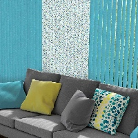 Break up your design with blocks of patterned fabric