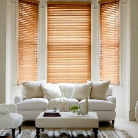 Wooden Blinds really do make your bay window the focal point of your room